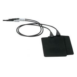 Electrodes Caoutchouc 8 x 12 cm - Femelle 2 mm