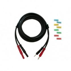 Câble patient noir sortie 2 mm mâle